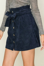 Load image into Gallery viewer, Layla Corduroy Skirt in Midnight Blue