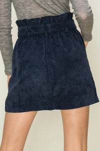 Layla Corduroy Skirt in Midnight Blue