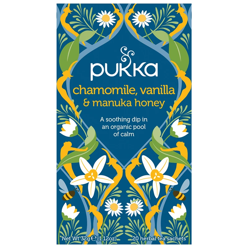 Pukka - Chamomile, Vanilla & Manuka Honey Tea 4 Box Pack