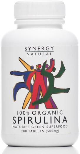 Synergy Spirulina Tablets (Org) 1x200pcs.