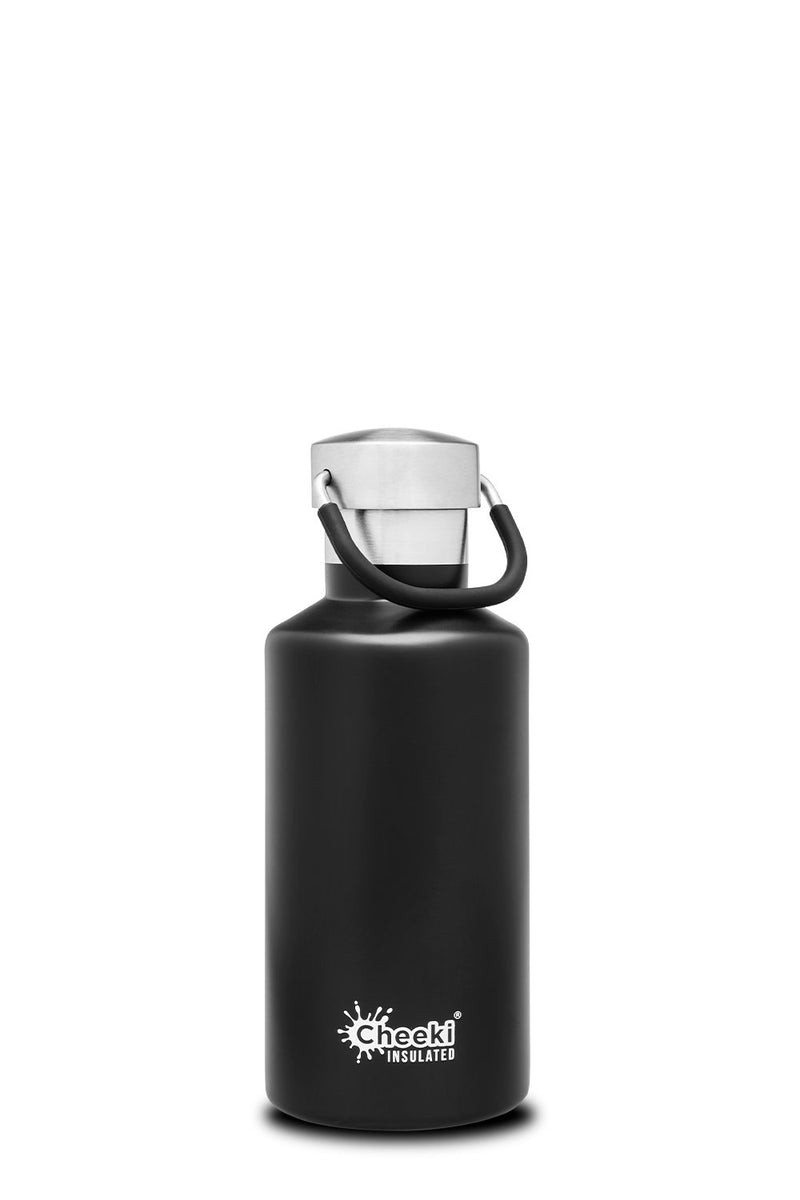 400ml Classic Insulated Bottle - Matte Black