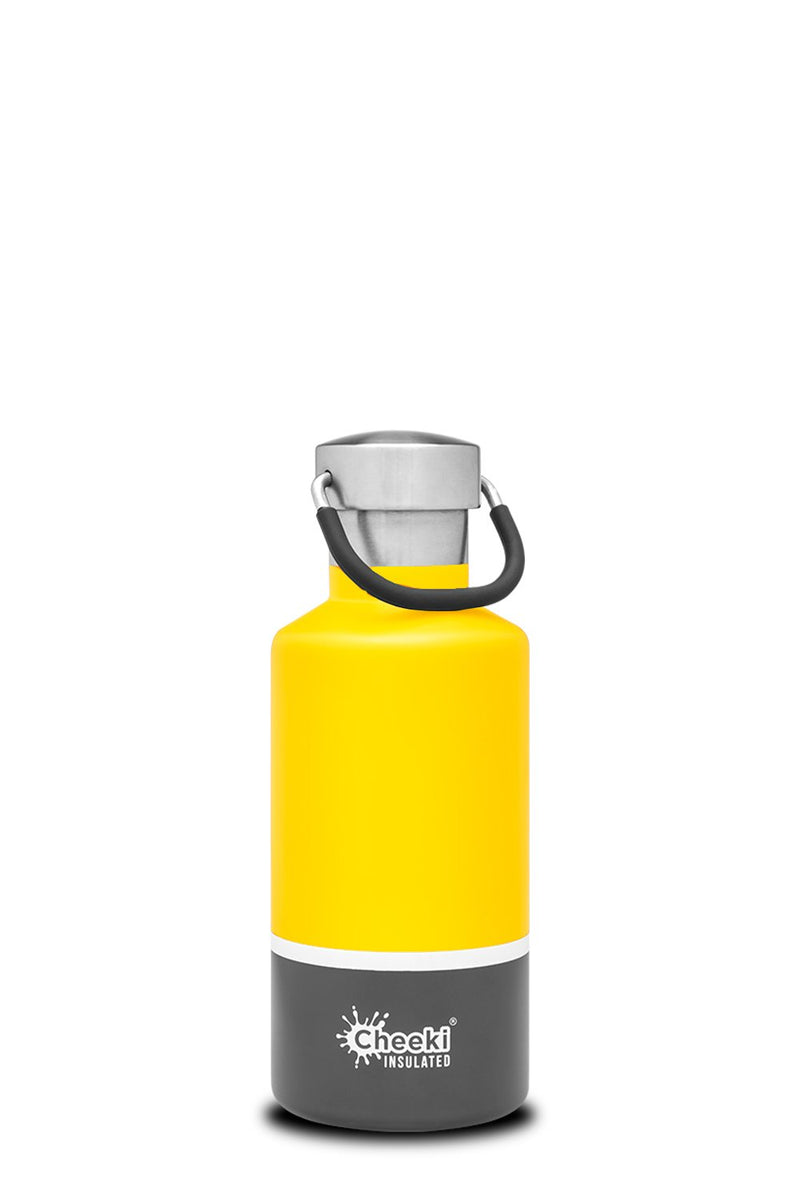 400ml Classic Insulated Bottle - Sunshine Grey