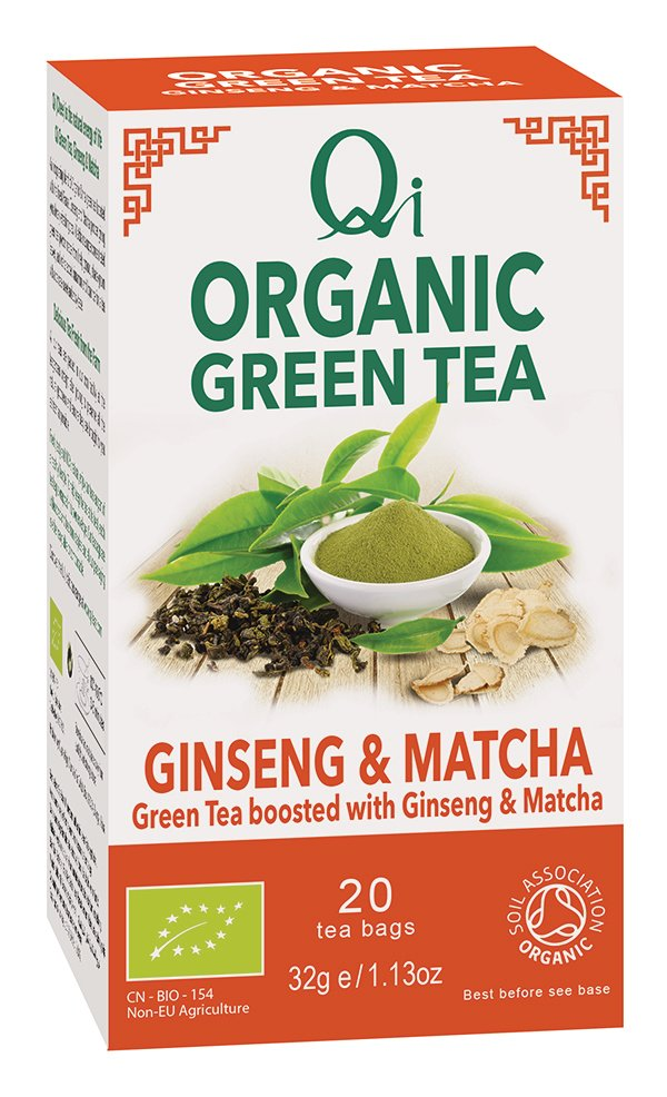 Qi Green Tea Gingsen & Matcha (Org) 6x20 Bags
