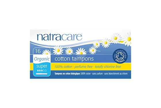 Natracare	Cotton Applicator Tampons Super	12x16Pce