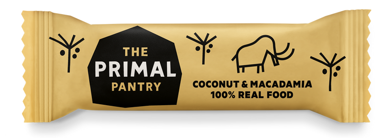 Primal Pantry - Coconut & Macadamia Paleo Bar 18 pack