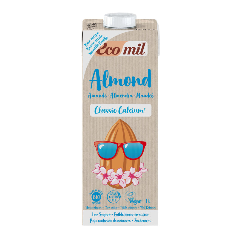 ECOMIL - Almond Milk Class Calcium (w Sugar) 6x1L