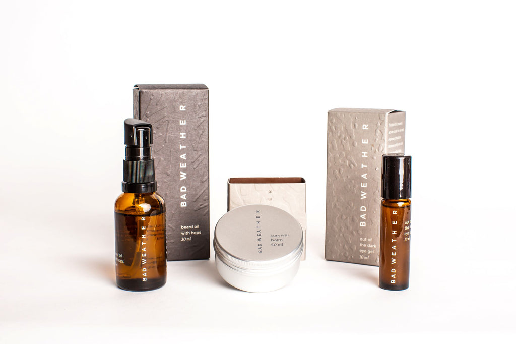 Bad Weather - Beard Oil & Survival Balm & Out of the dark eye gel Gift Set