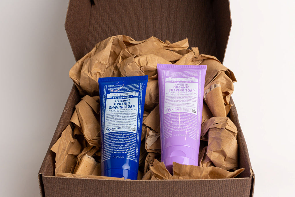 Dr. Bronner's Organic Shaving Soap Peppermint & Lavender Gift Set (2x207ml)