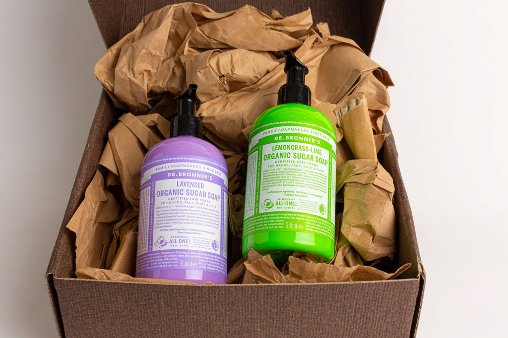 Dr Bronner's Organic Pump Soap Gift Set 355ml (Lavender & Lemongrass Lime)
