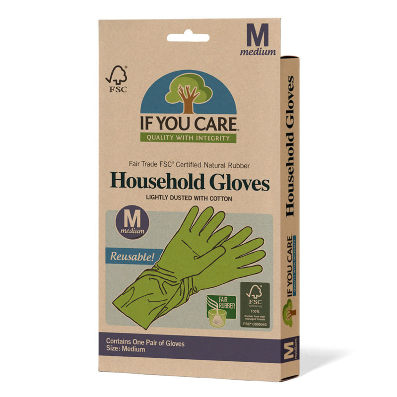 If You Care - Medium Latex Household Gloves