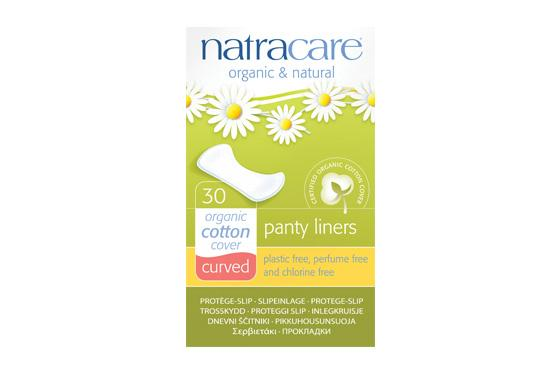 Natracare	Natural Panty Liners - Curved	16x30Pce