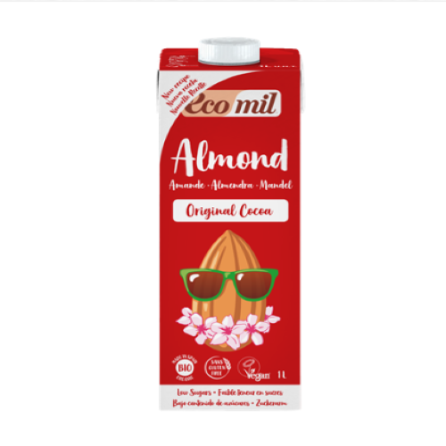 ECOMIL - Almond Milk Cacao w Agave(Org)) 6x1L