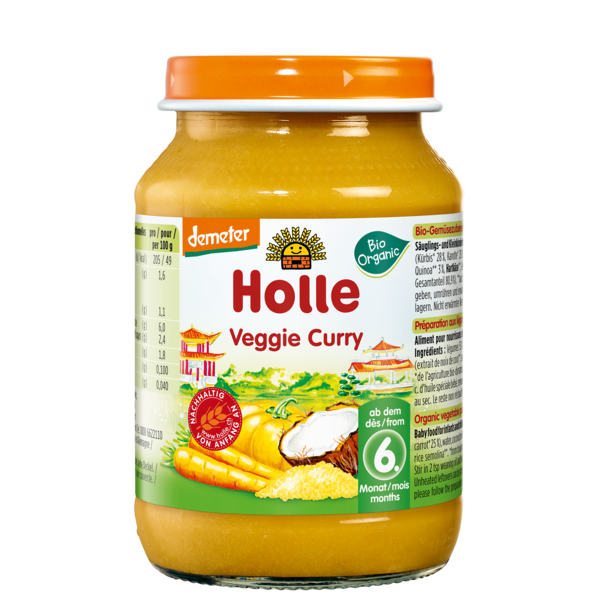 Holle Baby	Veggie Curry (Org)	6x190g