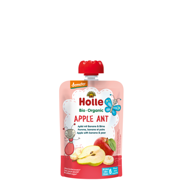 Holle Baby	Apple & Banana with Pear (Org)	12x90g