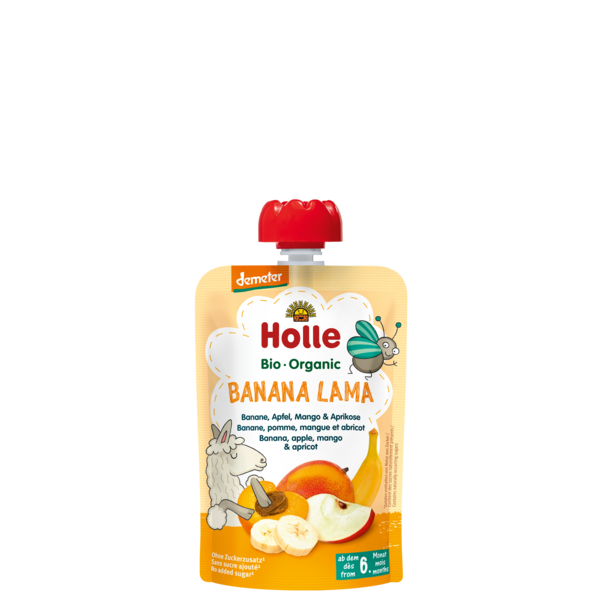 Holle Baby	Banana, Apple, Mango & Apricot (Org)	12x90g