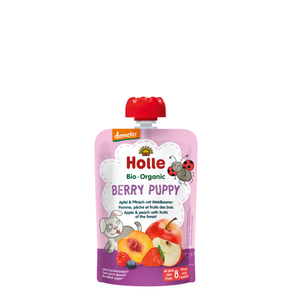 Holle Baby	Apple, Peach with Fruits of the Forest	12x90g