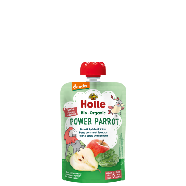 Holle Baby	Pear with Apple and Spinach (Org)	12x90g