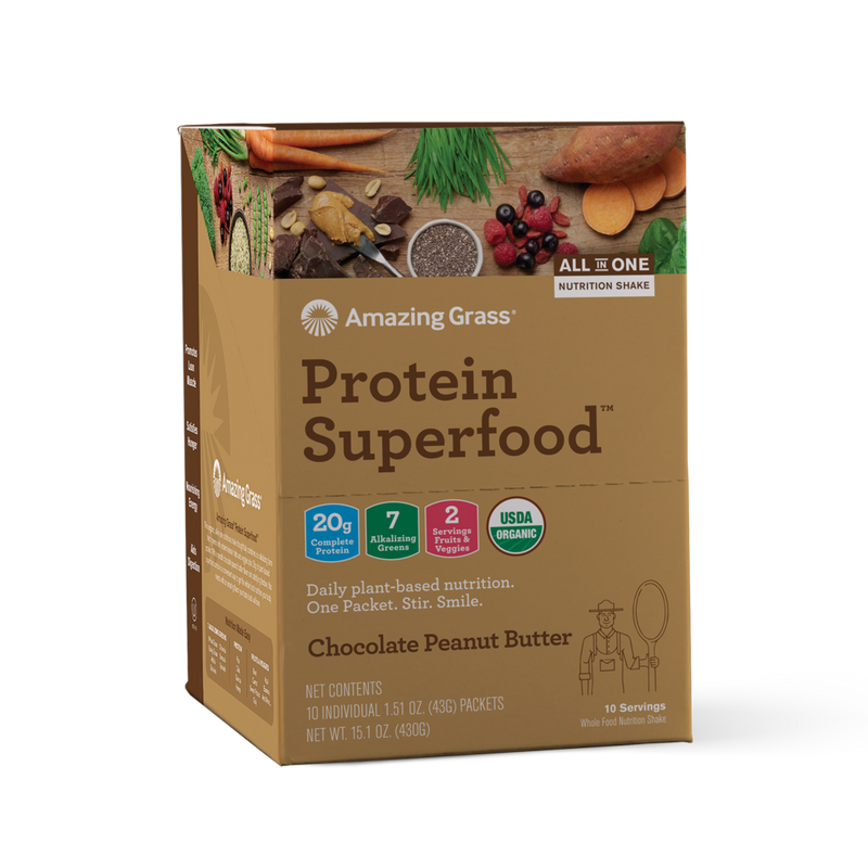 Amazing Grass - Protein Superfood Chocolate Peanut Butter 10x Sachet