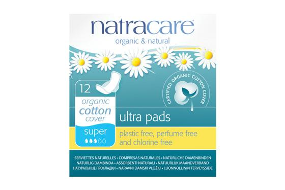 Natracare	Ultrapad Super w/Wings	12x12Pce