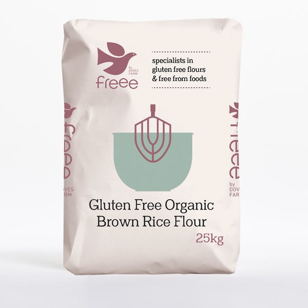 Bulk Flour - Doves Brown Rice Flour G/F 1x25kg