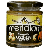 Meridian - Cashew Butter Smooth 100% Nuts 6x170g