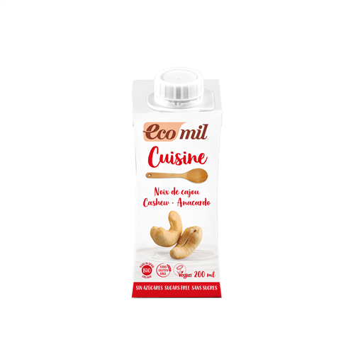 ECOMIL - Cashew Cooking Cream Sugar-Free (Org) 24x200ml