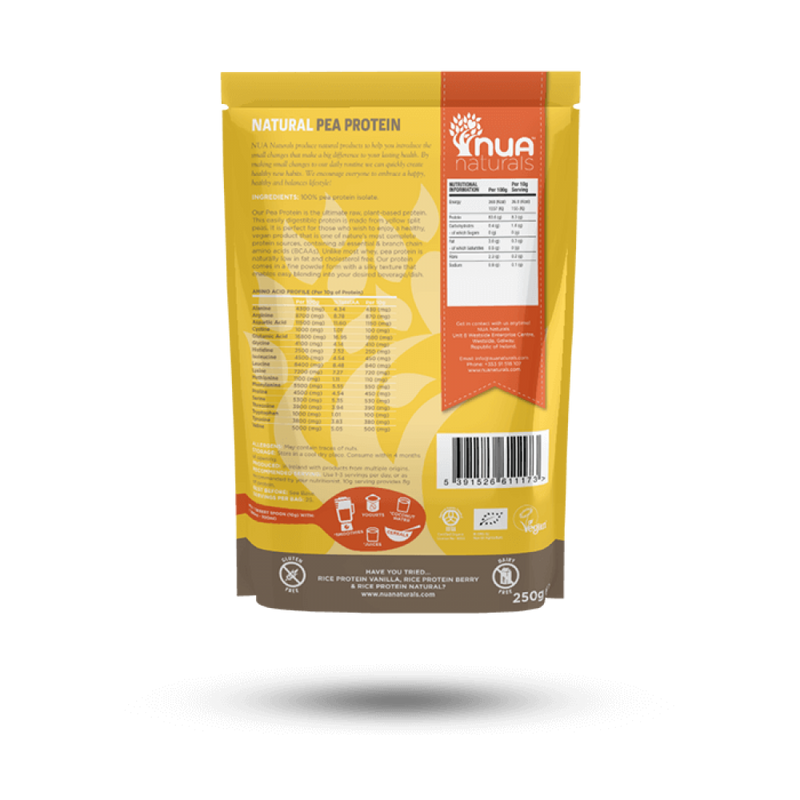 NUA Naturals - Pea Protein Powder Natural 250g 1x250g