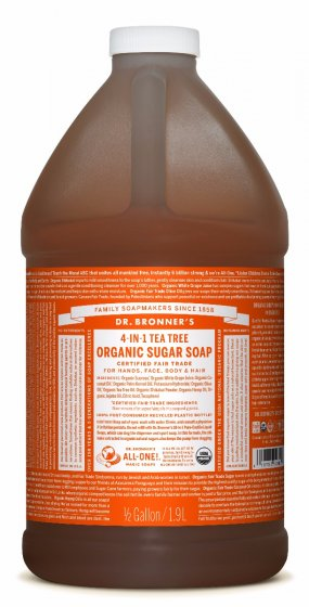 DR. BRONNER - 4 in 1 Tea Tree Pump Soap- REFILL 1x1.9L