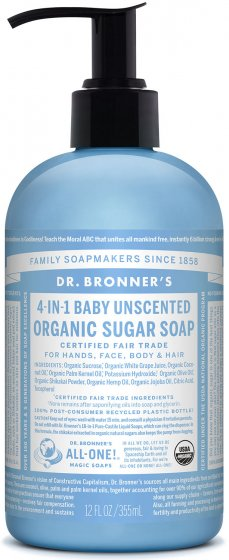 DR. BRONNER - 4 in 1 Baby Unscented Pump Soap-24oz 1x710ml
