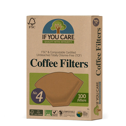 If You Care - Coffee Filters Large (No4) Unbleached