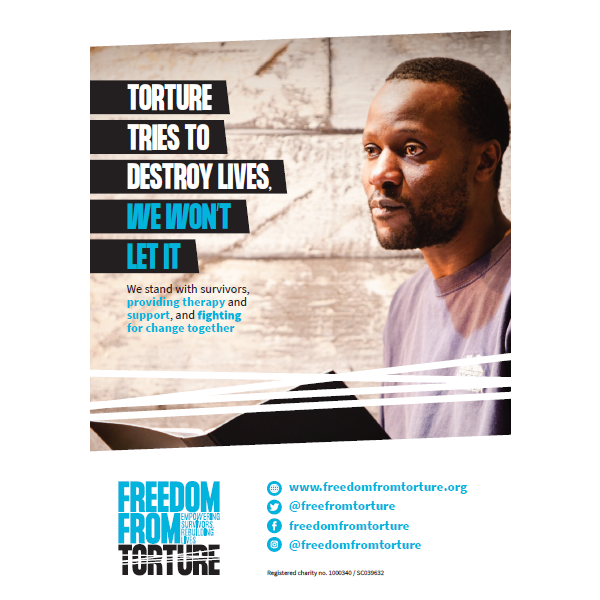 Campaign Poster 2 - Torture Tries To Destroy Lives