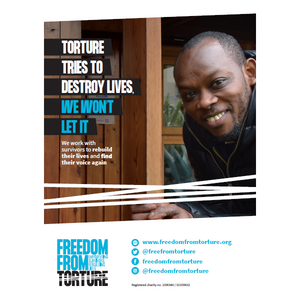 Campaign Poster 1 - Torture Tries To Destroy Lives