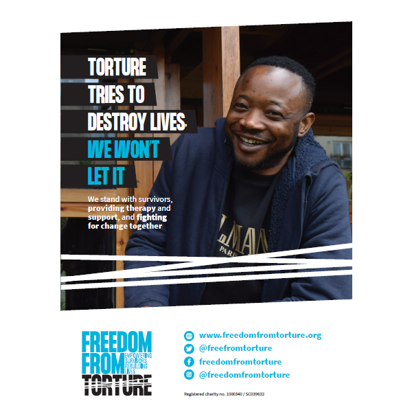 Campaign Poster 3 - Torture Tries To Destroy Lives