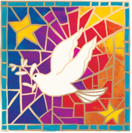 Colourful Dove - Christmas Cards