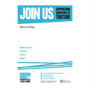 Freedom from Torture - Join Us Poster