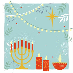 Interfaith Candles Christmas/Greeting card