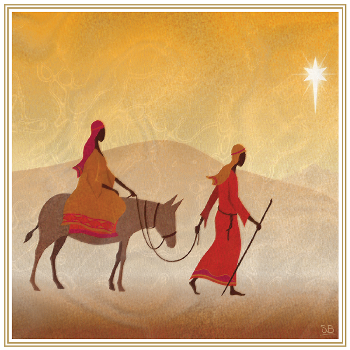 At The Manger & Journey - Christmas Cards