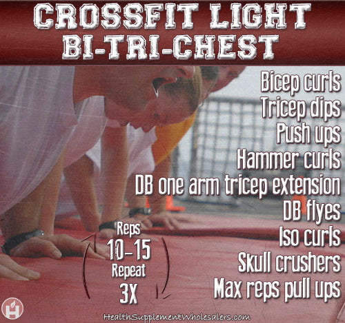 crossfit light circuit bi-tri-chest