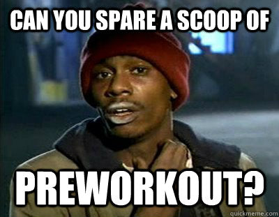 snorting pre workout