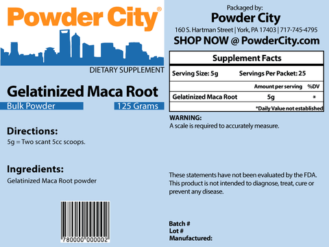 Gelatinized Maca Root Powder