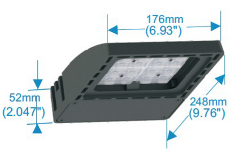 40W Flood Light dimensions