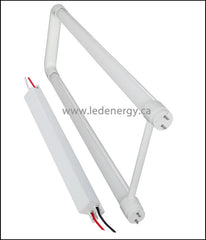 100-277V T8 U-Tube/Driver Sets - 1 x 2ft.(18W) LED HO (High Lumen Output) U-Tube + Driver G13 Base