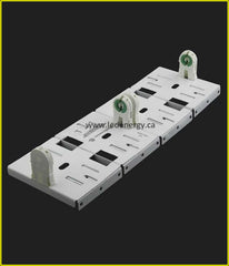 LED Retrofit Series - LEIA224-UNV-ALU-BC 8 ft. Saddle Bracket Socket Bars for Use with 2 T8 Lamps