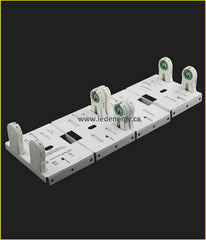LED Retrofit Series - LEIA244-UNV 8 ft. Saddle Bracket Socket Bars for Use with 4 T8 Lamps