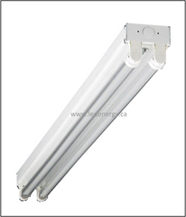 LED Fixture Series - 4 Ft. Strip with 2-Self driving Led T8 tubes, DLC Approved