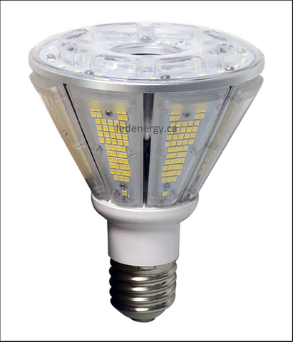 Corn Bulb Series - 30W LED Corn Bulb Lamp Type B E26/E40 Base 100-300V DLC Approved