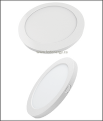 "LED Panel Series - Round  8"" 18W LED Panel, 120V Dimmable, Energy Star Approved"