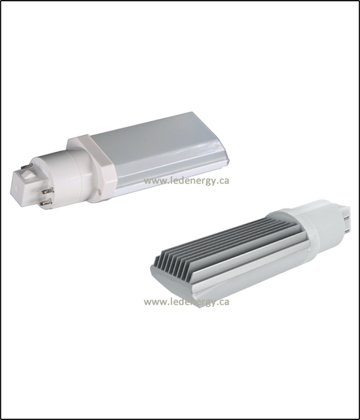 PL Series - 11W Ballast Compatible LED Horizontal 4-Pin PL Lamp G24 Base 100-277/347V, DLC Approved