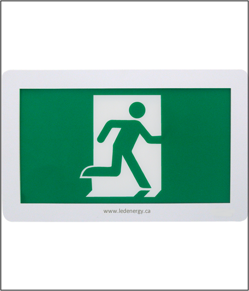 LED Emergency Exit Sign Series - Thermoplastic Running Man 120 / 347V LED Exit Sign