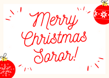 Load image into Gallery viewer, Soror Besties Christmas Card Set Red